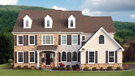 New homes at Brookshire in Zionsville, Pennsylvania