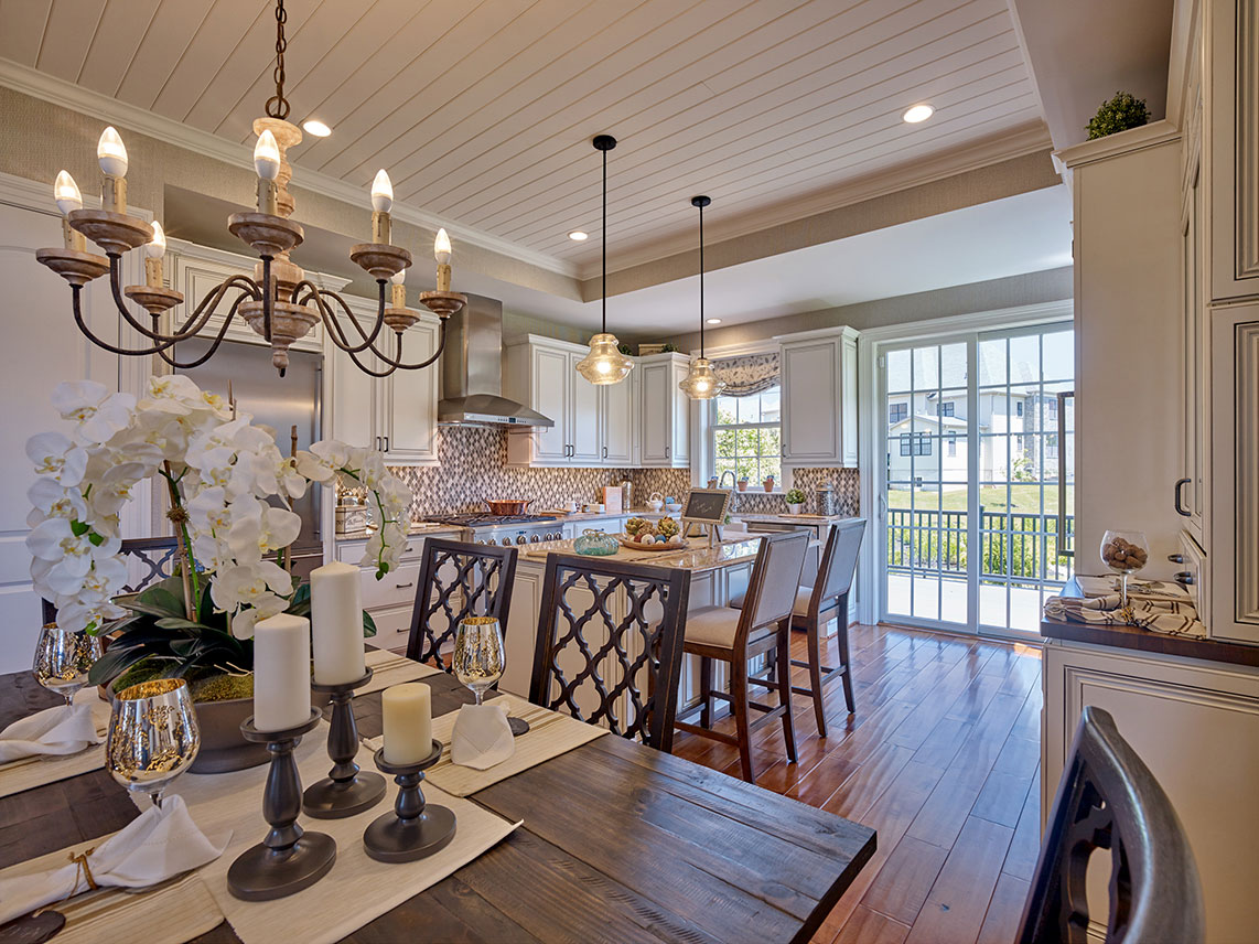 dining room and kitchen of home for sale in Flourtown, PA