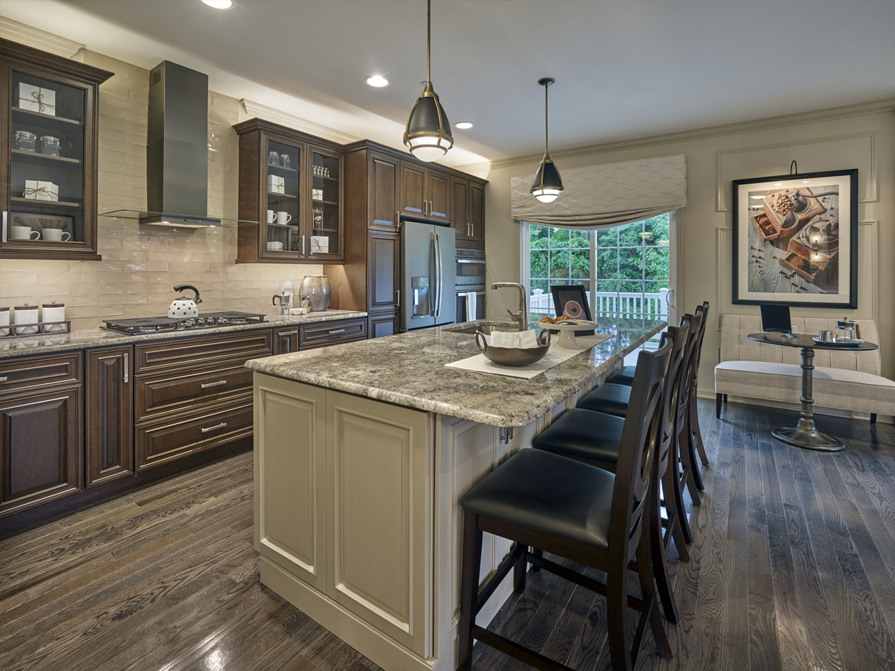 kitchen island in a home for sale in Chester County