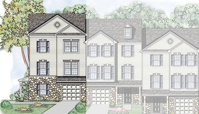 The Bella homesite #105, built by Judd Builders at Woodcrest Hills in York, PA