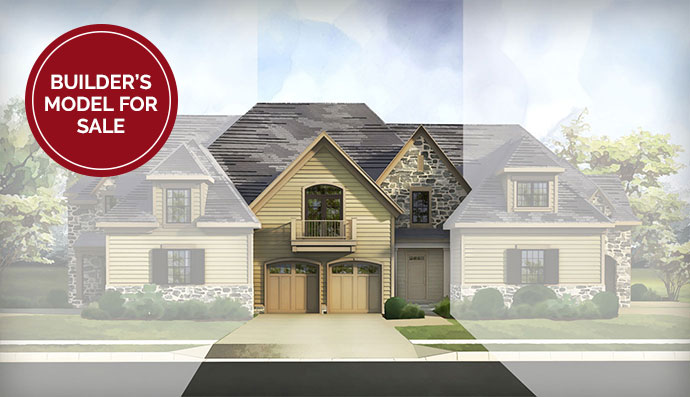 The Devon homesite #213, built by Judd Builders at The Reserve at Creekside in Flourtown, PA