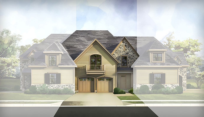 The Ardleigh home model, built by Judd Builders at The Reserve at Creekside in Flourtown, PA