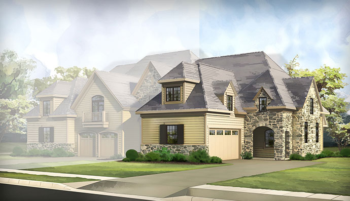 The Benezet home model, built by Judd Builders at The Reserve at Creekside in Flourtown, PA