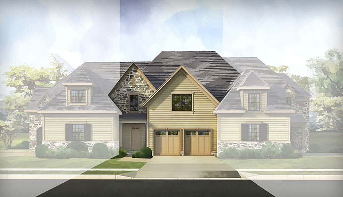 The Devon homesite #159, built by Judd Builders at The Reserve at Creekside in Flourtown, PA