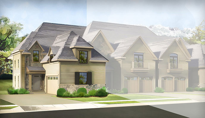 The Fairmount homesite #183, built by Judd Builders at The Reserve at Creekside in Flourtown, PA