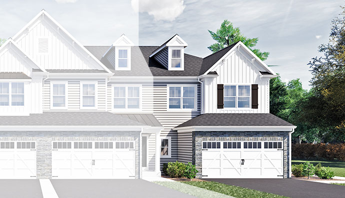 The Addis home model, built by Judd Builders at The Reserve at Spring Mill in West Ivyland, PA