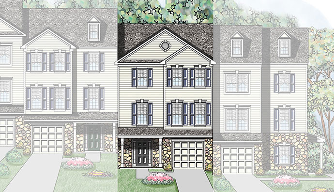 The Aster home model, built by Judd Builders at Woodcrest Hills in York, PA