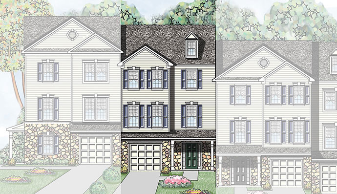 The Cardinal home model, built by Judd Builders at Woodcrest Hills in York, PA