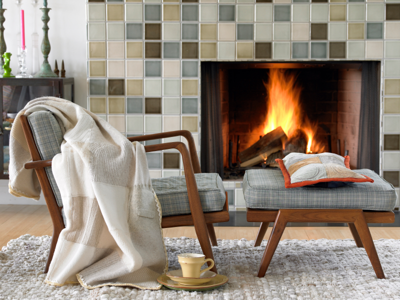 creating a cozy fireplace