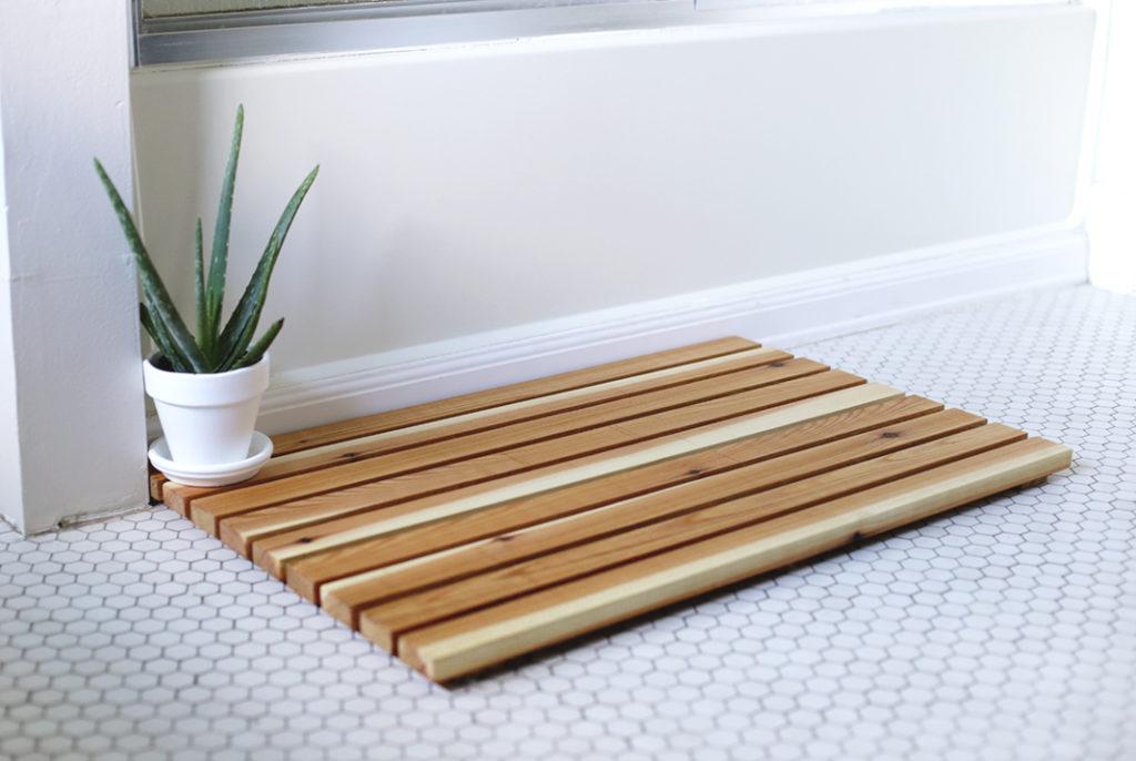Diy Pebble Bathroom Mat Or Teak Board Judd Builders