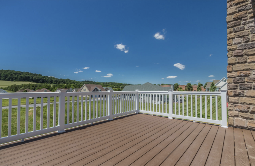Deck view of an Oley, PA home at Meadow View Farms
