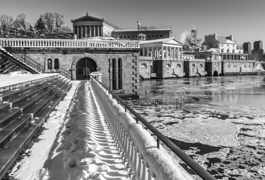 Water Works of Philadelphia in Winter