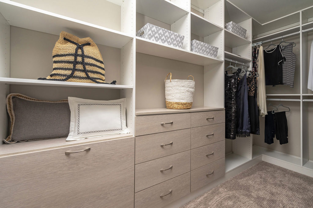 Walk-in Closet at the Bella Model at Siena Place in Packer Park